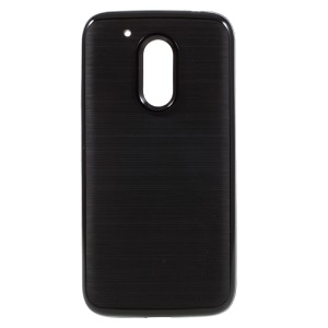 MOFI Brushed TPU + PC Rim Hybrid Phone Casing for Motorola Moto G4 Play - Black