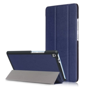 Tablet Accessory Tri-fold Stand Leather Case for Lenovo Tab3 7 Plus - Dark Blue