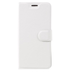 Crazy Horse Leather Card Slot Mobile Phone Shell for Lenovo P2 with Steel Sheet - White