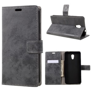 Vintage Wallet Leather Cell Phone Case for Lenovo P2 - Grey