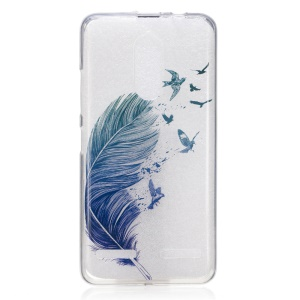 IMD Pattern Printing TPU Cover for Lenovo K6 / K6 Power - Feather and Birds