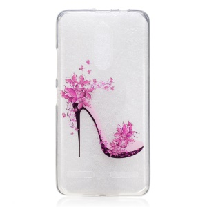 IMD Pattern Printing TPU Shell for Lenovo K6 / K6 Power - High-heeled Shoe with Flowers