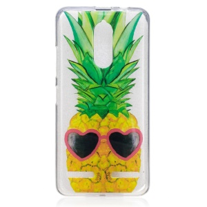 IMD Pattern Printing TPU Mobile Phone Casing for Lenovo K6 / K6 Power - Cool Pineapple