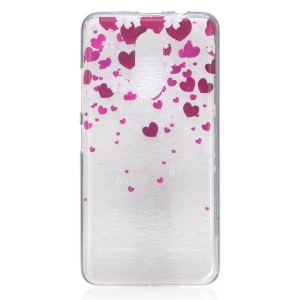 IMD Pattern Printing TPU Phone Back Cover for Lenovo K6 / K6 Power - Heart Pattern