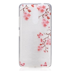 IMD Pattern Printing TPU Back Accessory Case for Lenovo K6 / K6 Power - Flowers and Butterflies