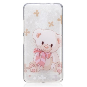 IMD Pattern Printing TPU Phone Protective Cover for Lenovo K6 / K6 Power - Bear Doll