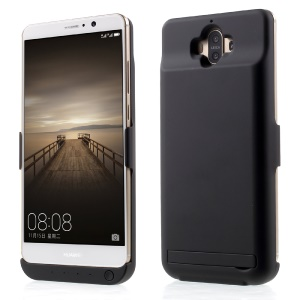 10000mAh External Backup Battery Case with Kickstand for Huawei Mate 9 - Black