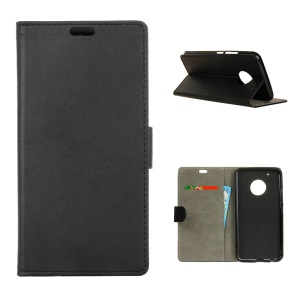 Wallet Cell Phone Case Leather Cover for Motorola Moto X 2017/Moto G5 Plus - Black