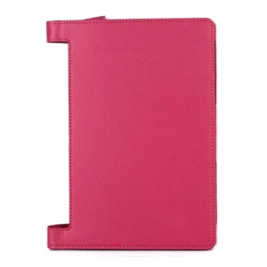 Lychee Texture PU Leather Protective Case for Lenovo Yoga Tab 3 10 (10.1-inch) - Rose