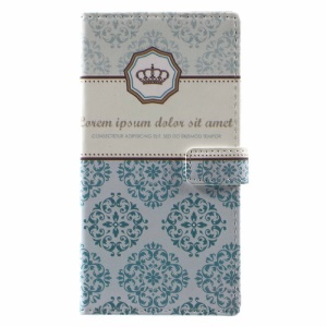 Pattern Printing Magnetic Leather Wallet Case with Stand for Motorola Moto G5 - Damask Flowers