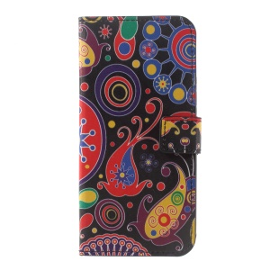 PU Leather Wallet Cell Phone Case for Motorola Moto G5 Plus - Paisley Pattern
