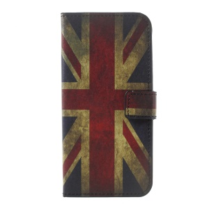 Printing Pattern Leather Wallet Cover for Motorola Moto G5 Plus - Retro UK Flag