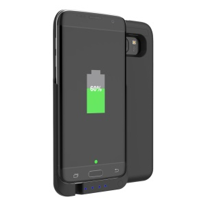 3600mAh External Battery Backup Charger Case with Kickstand for Samsung Galaxy S7 edge SM-G935 - Black