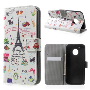 Patterned Wallet Leather Stand Cell Phone Case for Motorola Moto G5 - Palettes Sweet Street