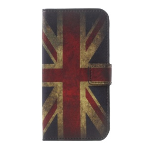 Patterned Leather Case with Wallet Card Slots for Motorola Moto G5 - Retro UK Flag