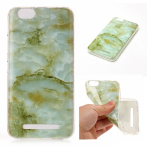 Marble Pattern IMD TPU Mobile Phone Case for Lenovo Vibe C A2020 - Light Green