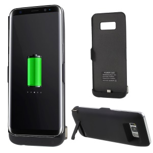6500mAh External Battery Charger Case with USB Output & Kickstand for Samsung Galaxy S8 Plus G955 - Black