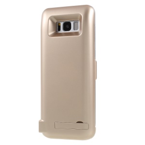 6500mAh Battery Backup Back Cover Charger with USB Output & Kickstand for Samsung Galaxy S8 Plus G955 - Gold