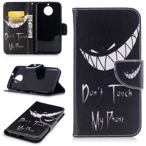 Pattern Printing Wallet Leather Case with Stand for Motorola Moto G6 - Do not Touch My Phone
