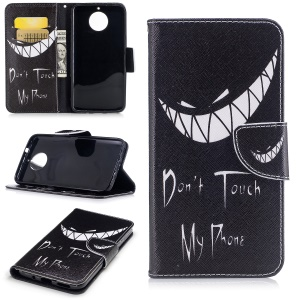Pattern Printing Wallet Leather Cover Case for Motorola Moto G6 Plus - Do not Touch My Phone