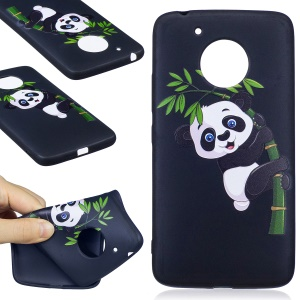 Embossing Pattern Matte Soft TPU Shell for Motorola Moto G5 - Lovely Panda