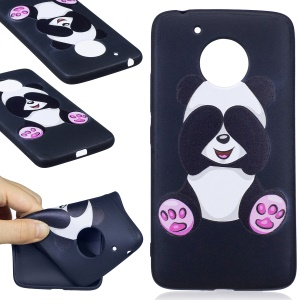 Embossing Pattern Matte Soft TPU Phone Cover for Motorola Moto G5 - Lovely Panda