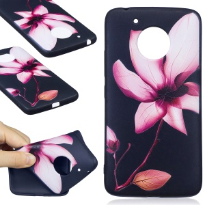 Embossing Pattern Matte Soft TPU Phone Shell for Motorola Moto G5 - Elegant Flower