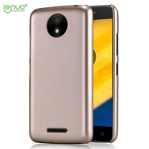 LENUO Leshield Series Silky Touch Hard Plastic Phone Protective Case for Motorola Moto C Plus - Gold