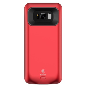 BASEUS 5500mAh CE/FCC/RoHS Protective Battery Case Charger for Samsung Galaxy S8 Plus G955 - Red