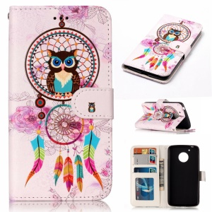 For Motorola Moto G5 Embossed Pattern PU Leather Mobile Phone Cover - Dream Catcher