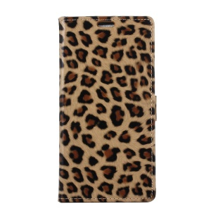 Leopard Wallet Leather Case Cover with Stand for Motorola Mote Z Force (2017)