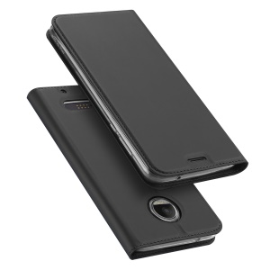 DUX DUCIS Skin Pro Series Card Slot Stand Leather Case for Motorola Moto Z2 - Grey