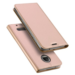 DUX DUCIS Skin Pro Series Card Holder Stand Leather Case for Motorola Moto Z2 Force - Rose Gold