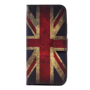 Pattern Printing Wallet Leather Stand Protective Case for Motorola Moto C - Retro UK Flag