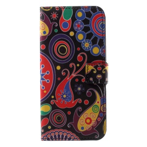 Patterned PU Leather Wallet Protective Phone Cover with Stand for Motorola Moto G6 - Abstract Pattern