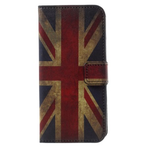 Patterned PU Leather Wallet Magnetic Stand Protective Phone Shell for Motorola Moto G6 - Flag of England