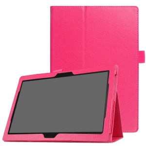 Universal Litchi Texture PU Leather Stand Case Cover for Lenovo Tab 4 10 Plus / Tab 4 10 - Rose