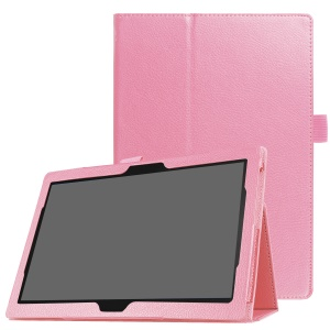 Litchi Texture Universal PU Leather Stand Protective Case for Lenovo Tab 4 10 Plus / Tab 4 10 - Pink