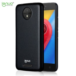LENUO for Motorola Moto C Silky Touch Rubberized PC Mobile Phone Casing - Black