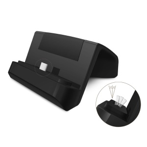 Desktop USB Type-C Charging Dock Cradle for Samsung S8/ S8 Plus/Xiaomi Mi 4c/LG Nexus 5X Etc - Black