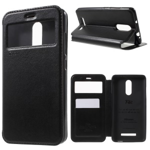 ROAR CORÉIA Noble Leather View Window Cover para Xiaomi Redmi Note 3 - negro