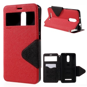 ROAR KOREA Diary Card Slot for Xiaomi Redmi Note 3 Leather Shell - Red