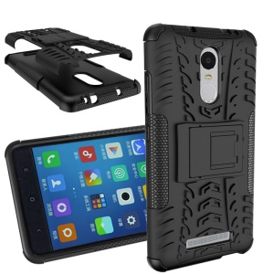 Tyre Grain PC + TPU Hybrid Case for Xiaomi Redmi Note 3 - Black