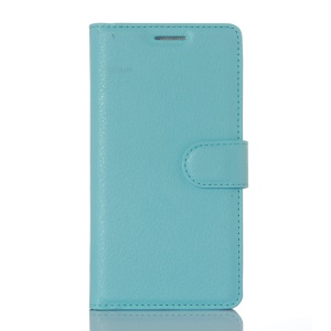 Litchi Texture Protective Leather Stand Cover for Xiaomi Redmi 3 - Blue
