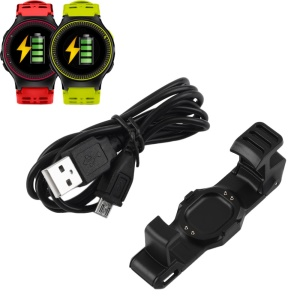 Charging Cradle Dock + USB Cable for Garmin Forerunner 225 Smartwatch
