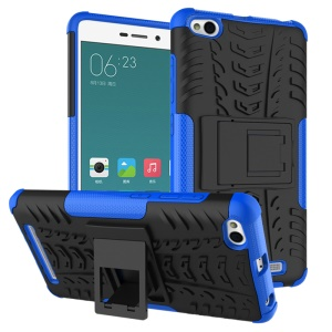 Tyre Pattern PC + TPU 2-in-1 Case Protector for Xiaomi Redmi 3 - Blue