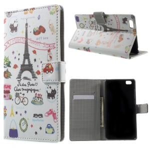 Card Holder Stand PU Leather Case for Xiaomi Mi 5 - Palettes Sweet Street