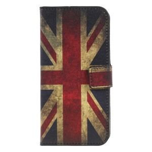 Patterned Leather Wallet Stand Cover for Xiaomi Redmi 4X - Retro UK Union Jack Flag
