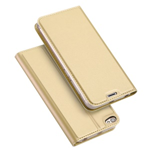 DUX DUCIS Skin Pro Series Card Slot Leather Shell Stand for Xiaomi Redmi Note 5A / Y1 Lite - Gold