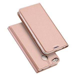 DUX DUCIS Skin Pro Series Card Slot Stand Leather Cover for Xiaomi Redmi Note 5A Prime - Rose Gold